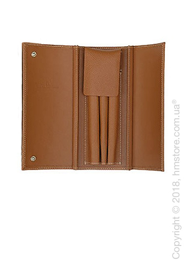 Кожаный пенал Graf von Faber-Castell Case For 3 Pens Epsom, Cognac Grained Leather