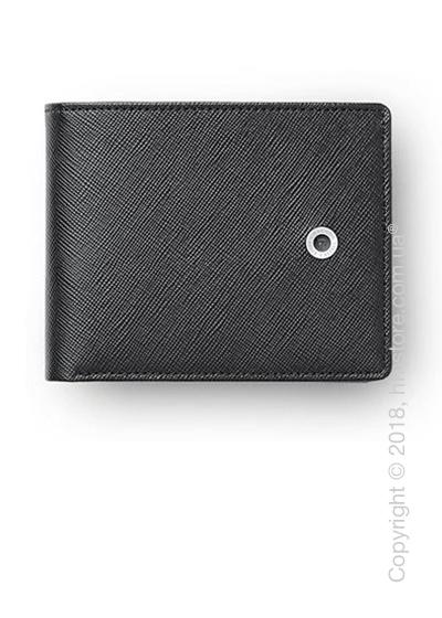 Бумажник Graf von Faber-Castell Wallet With Flap, Black Saffiano