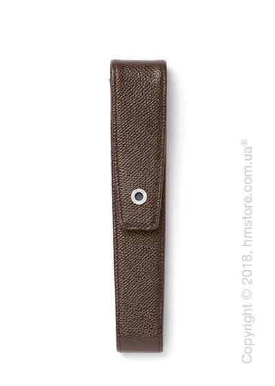 Кожаный пенал для ручки Graf von Faber-Castell Case With Magnetic Catch for 1 Pen Epsom, Dark Brown Grained Leather