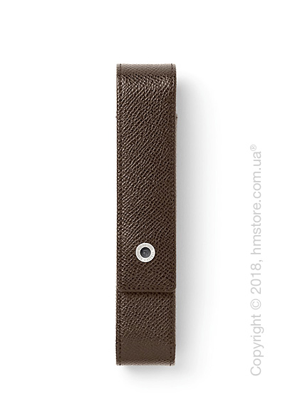 Кожаный пенал для ручки Graf von Faber-Castell Standard Case for 1 Pen Epsom, Dark Brown Grained Leather