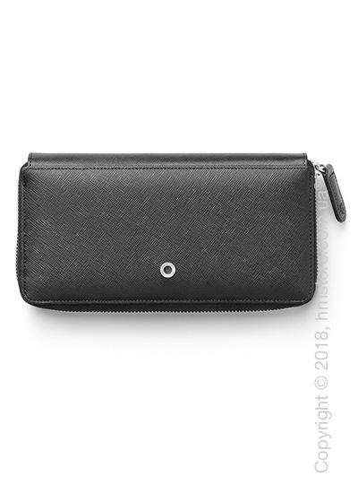 Кошелек Graf von Faber-Castell Zipped Purse Patent, Black Saffiano