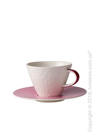 Чашка с блюдцем Villeroy & Boch коллекция Caffè Club Floral Touch 390 мл, Rose