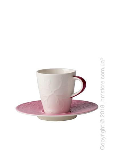 Чашка для эспрессо с блюдцем Villeroy & Boch коллекция Caffè Club Floral Touch 100 мл, Rose