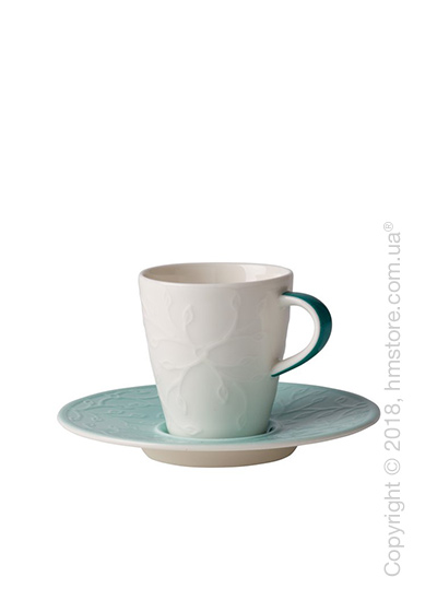 Чашка для эспрессо с блюдцем Villeroy & Boch коллекция Caffè Club Floral Touch 100 мл, Ivy