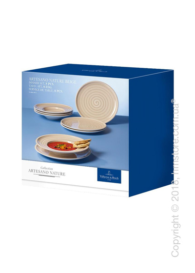 Набор фарфоровой посуды Villeroy & Boch коллекция Artesano Nature на 4 персоны, 8 предметов, Beige