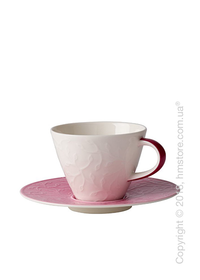 Чашка с блюдцем Villeroy & Boch коллекция Caffè Club Floral Touch 220 мл, Rose