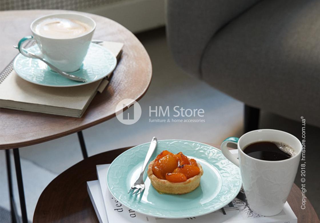Чашка с блюдцем Villeroy & Boch коллекция Caffè Club Floral Touch 390 мл, Ivy
