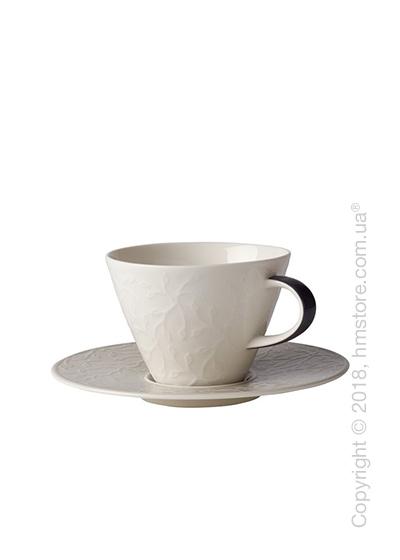 Чашка с блюдцем Villeroy & Boch коллекция Caffè Club Floral Touch 390 мл, Smoke