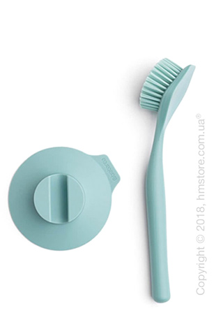 Щетка кухонная для посуды Brabantia Washing Brush with Suction Holder, Mint
