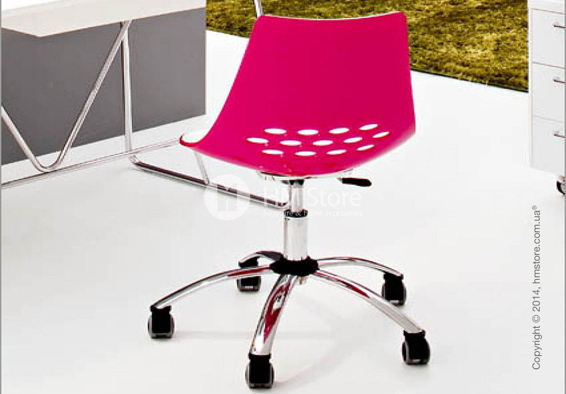 Кресло Calligaris Jam, Swivel chair, Plastic white and glossy black