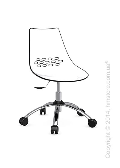 Кресло Calligaris Jam, Swivel chair, Plastic white and glossy black