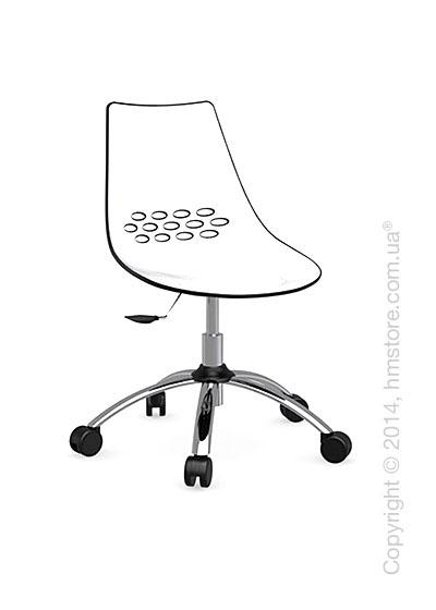 Кресло Connubia Jam, Swivel chair, Plastic white and glossy black