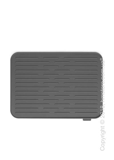 Коврик-сушка для посуды Brabantia Silicone Printing Mat, Dark Grey