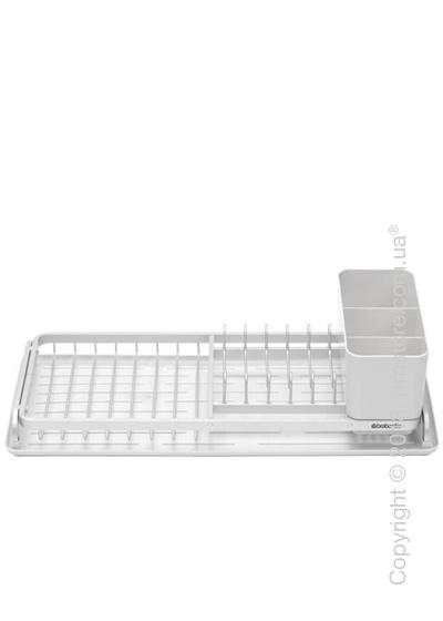Сушилка для посуды Brabantia Compact Printing Rib, Light Grey