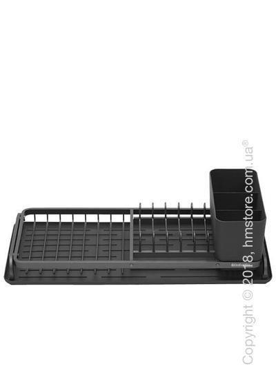 Сушка для посуды Brabantia Compact Printing Rib, Dark Grey