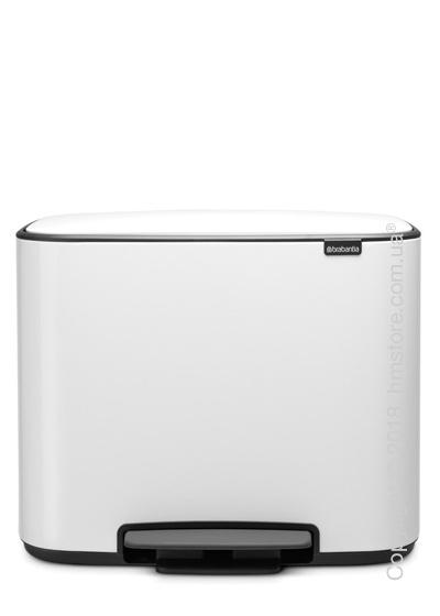 Ведро для сортировки мусора трехсекционное Brabantia Bo Pedal Bin 11/11/11 л, White
