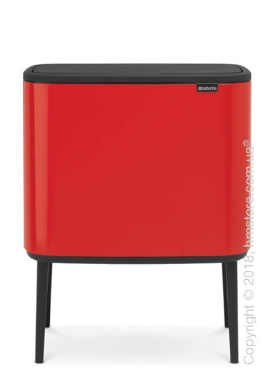 Ведро для сортировки мусора двухсекционное Brabantia Bo Touch Bin 11/23 л, Passion Red