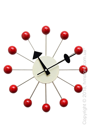 Часы настенные Vitra Ball Clock, Red