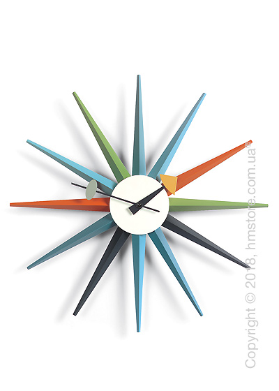 Часы настенные Vitra Sunburst Clock, Multicoloured