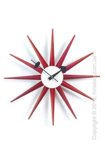 Часы настенные Vitra Sunburst Clock, Red