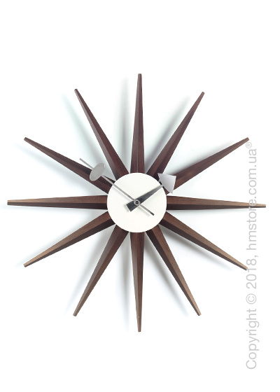Часы настенные Vitra Sunburst Clock, Walnut