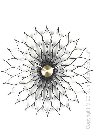 Часы настенные Vitra Sunflower Clock, Black