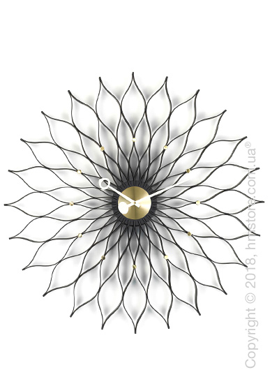 Часы настенные Vitra Sunflower Clock, Black