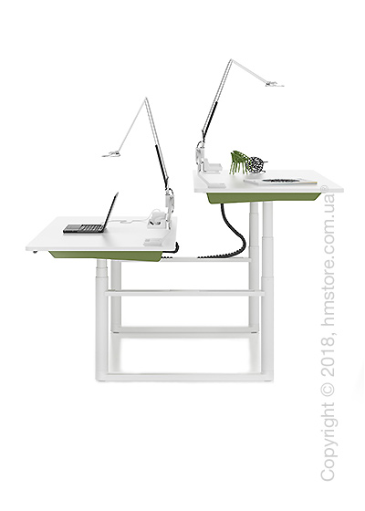 Стол Vitra Tyde Sit-Stand Cluster 1600x800, White