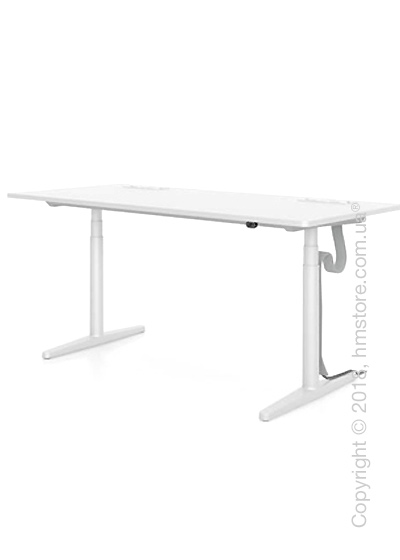 Стол Vitra Tyde Sit-Stand Table 1600x800, White