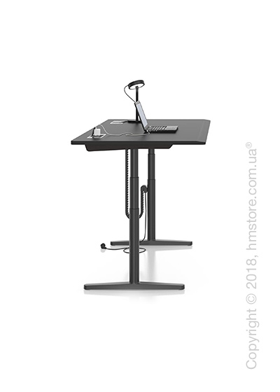Стол Vitra Tyde Sit-Stand Table 1600x800, Black