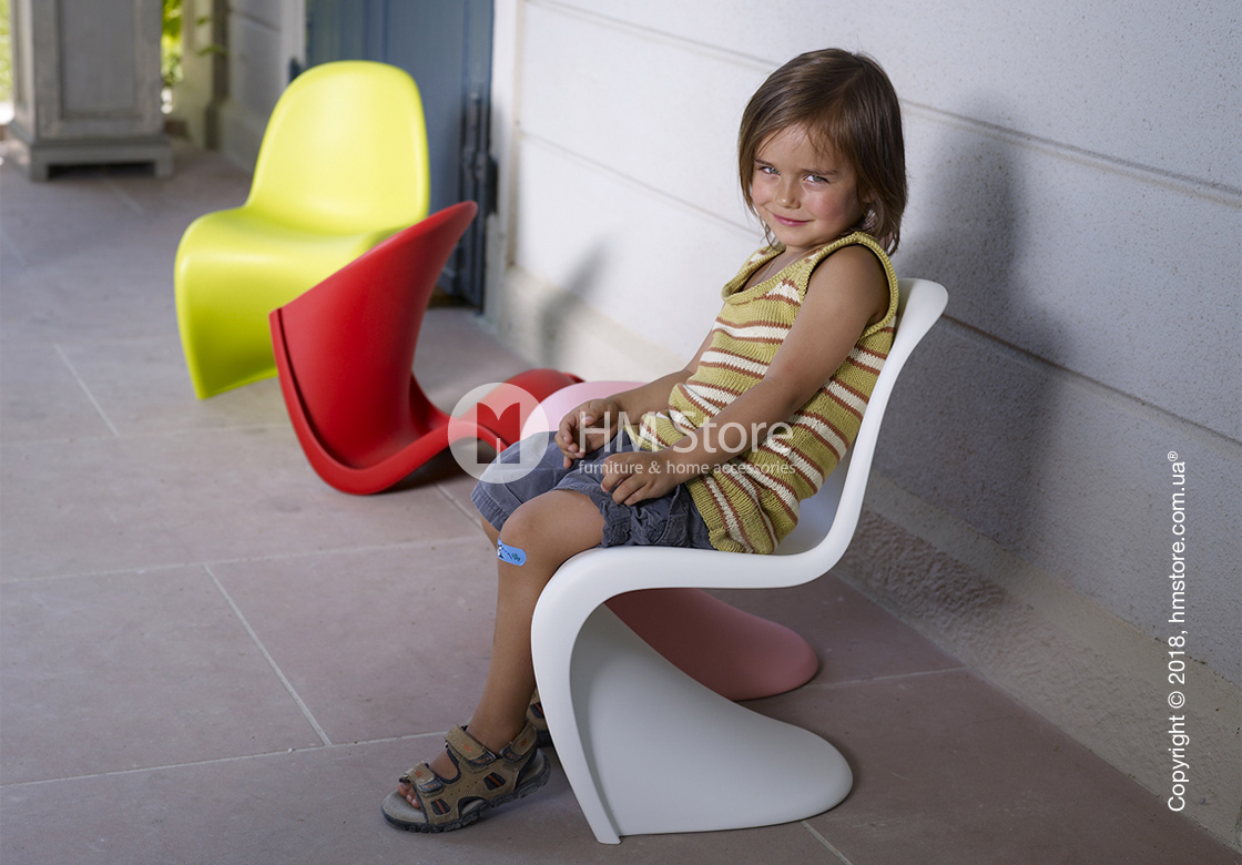 Стул детский Vitra Panton Junior Chair, Dark Lime