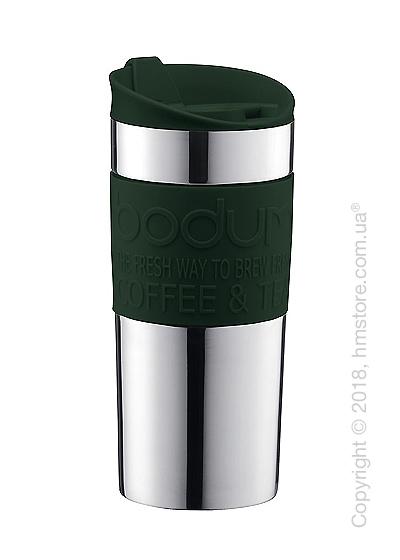 Термокружка Bodum Travel Mug Silver 350 мл, Dark Green