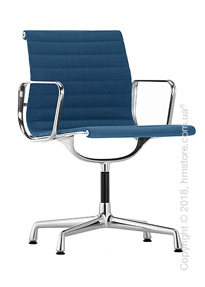 Кресло Vitra Aluminium Chair EA 103, Fabric Blue Moor Brown