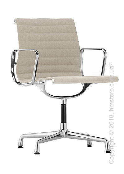 Кресло Vitra Aluminium Chair EA 103, Fabric Warmgrey Ivory