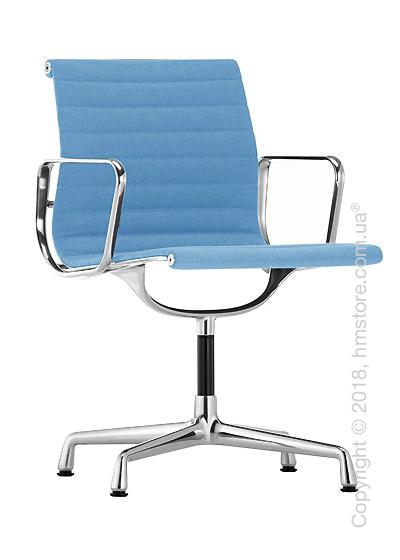 Кресло Vitra Aluminium Chair EA 103, Fabric Blue Ivory