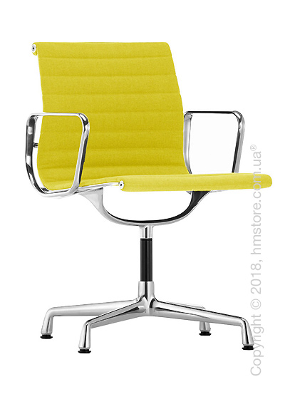 Кресло Vitra Aluminium Chair EA 103, Fabric Yellow Pastel Green