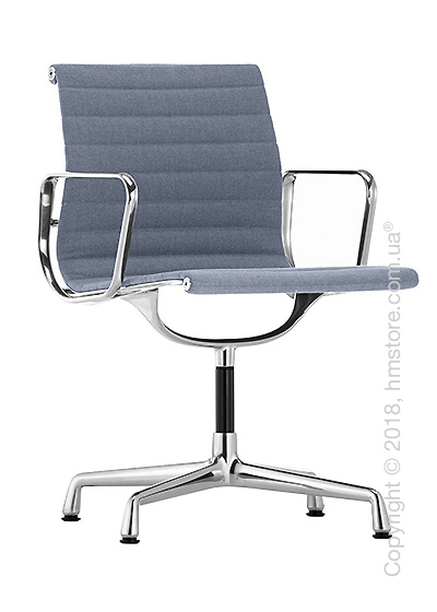Кресло Vitra Aluminium Chair EA 103, Fabric Dark Blue Ivory