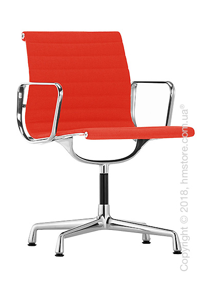 Кресло Vitra Aluminium Chair EA 103, Fabric Coral Poppy Red