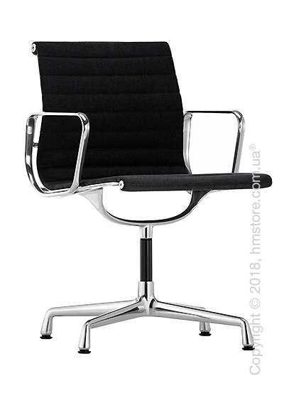 Кресло Vitra Aluminium Chair EA 103, Fabric Nero