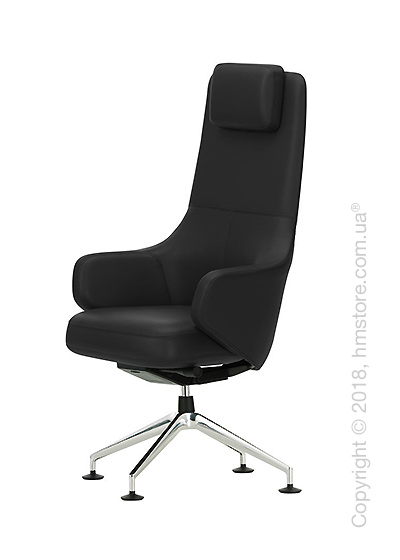 Кресло Vitra Grand Executive Conference Highback, Leather Nero
