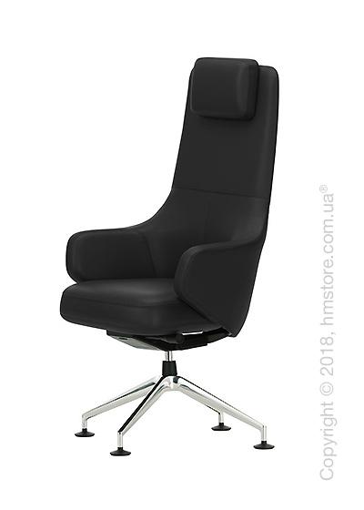 Кресло Vitra Grand Executive Conference Highback, Leather Nero