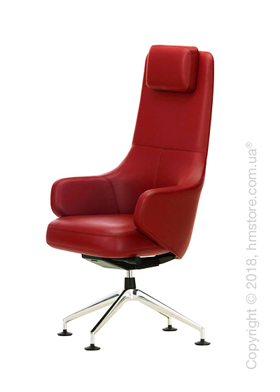 Кресло Vitra Grand Executive Conference Highback, Leather Red