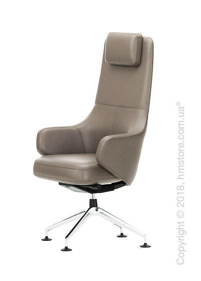 Кресло Vitra Grand Executive Conference Highback, Leather Sand