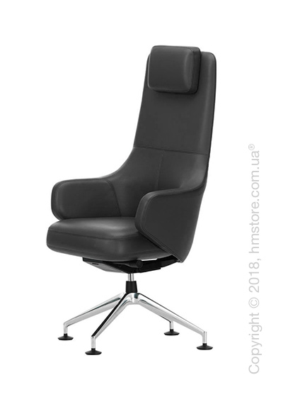 Кресло Vitra Grand Executive Conference Highback, Leather Asphalt