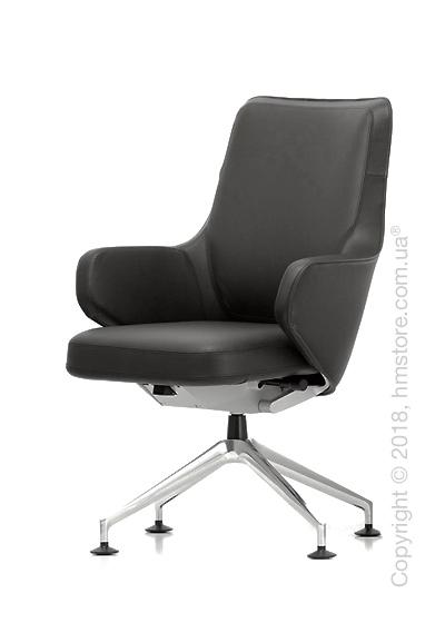 Кресло Vitra Grand Executive Conference Lowback, Leather Asphalt