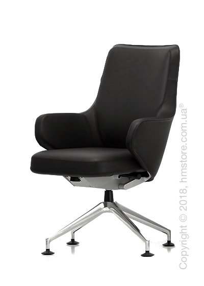 Кресло Vitra Grand Executive Conference Lowback, Leather Nero