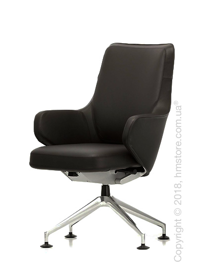 Кресло Vitra Grand Executive Conference Lowback, Leather Chocolate