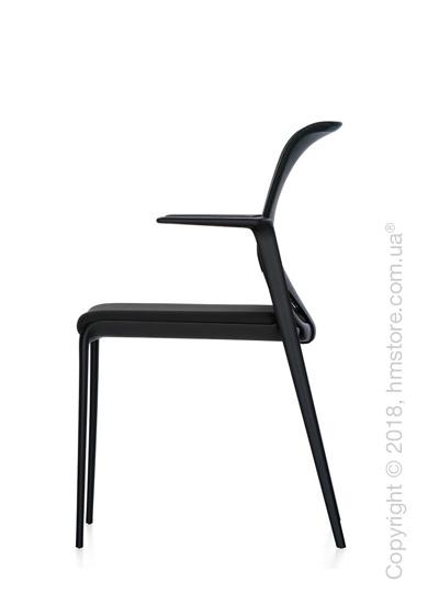 Кресло Vitra MedaSlim with black armrests, Netline Nero