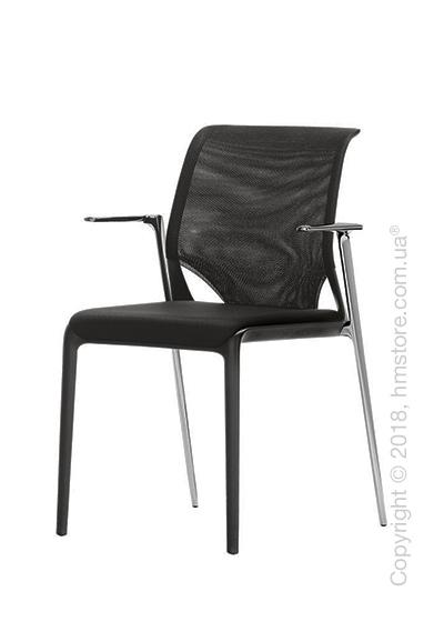 Кресло Vitra MedaSlim with chromed armrests, Netline Nero