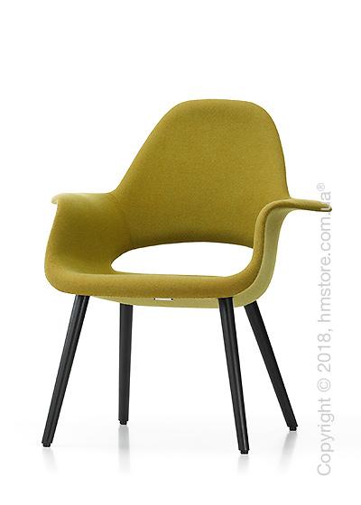 Кресло Vitra Organic Conference black legs, Hopsak Yellow Pastel Green